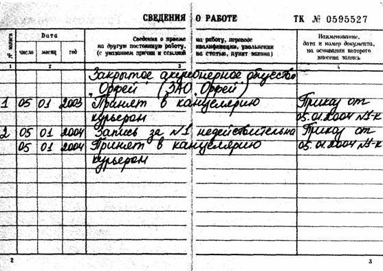 Исправление ошибочных записей в трудовой книжке чеки для налоговой Палехская улица