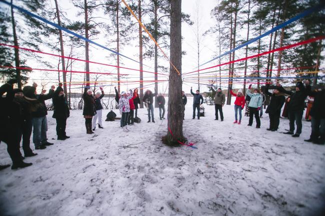 Зимний тимбилдинг в Ленинградской области