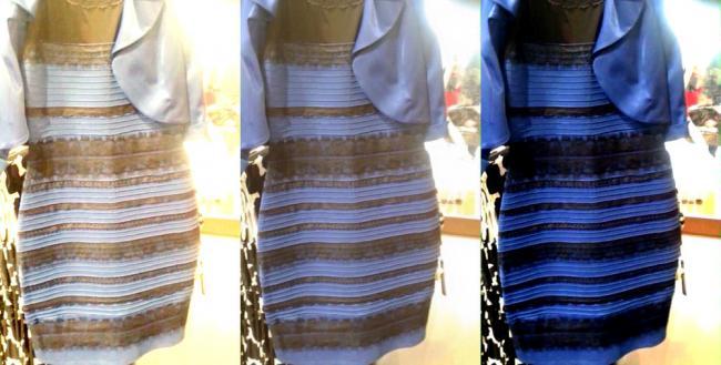 платье бело-золотое или сине-черное?