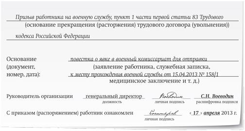 Военнослужащий пришли документы на отмену увольнения надпись индикаторе