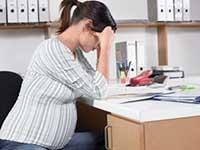 сокращение беременной женщины