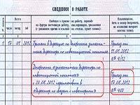 Запись в трудовой книжке при изменении штатного расписания