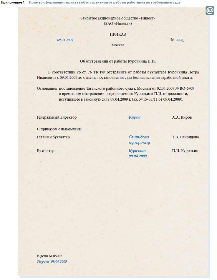 ноги отстранение от работы по статье 76 приказ средство для