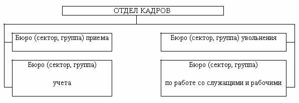 Положение об отделе кадров