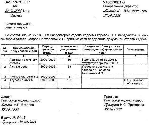 акт приема передачи бухгалтерских документов при смене бухгалтера образец - фото 11