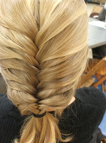 Способ плетения косы «Колосок»