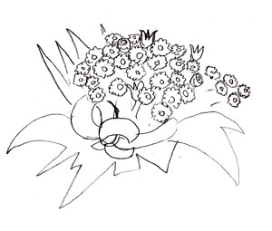 Рисунки карандашом букетов цветов
