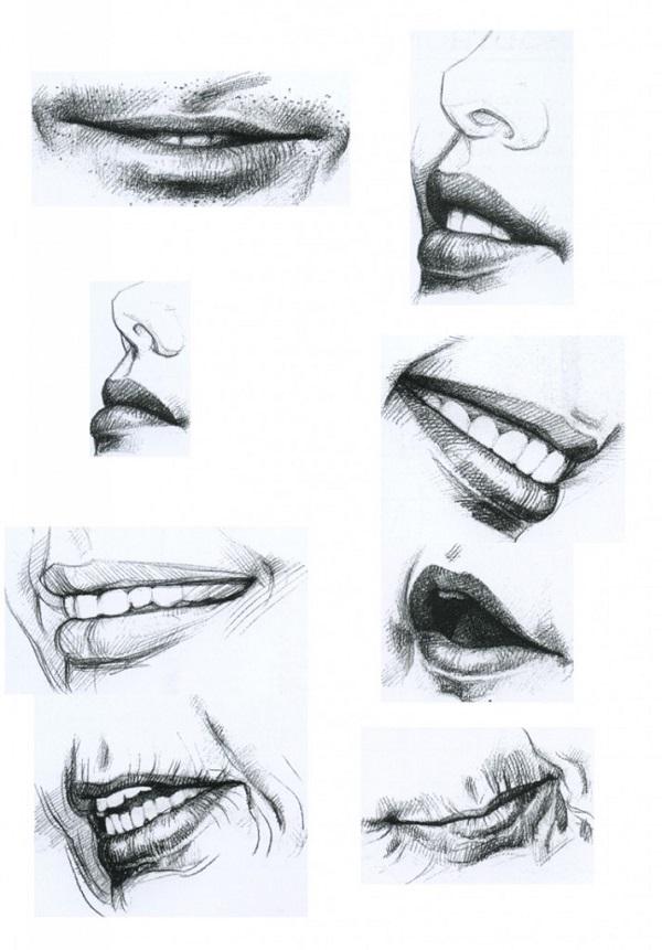 Как правильно рисуются губы
