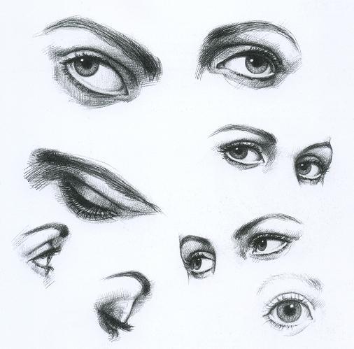 Глаза карандашом
