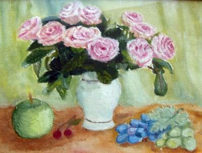 образец как нарисовать розу
