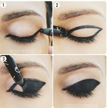 как делать стрелки на глазах карандашом поэтапно