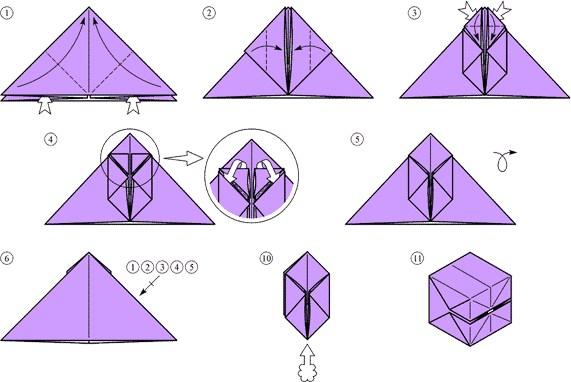 Как сделать из бумаги бомбочку с водой