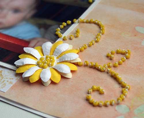 Как сделать объемный цветок схема 843