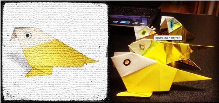 Как сделать попугая из бумаги?