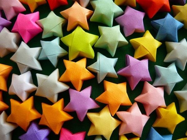 Как сделать выпуклую звезду из бумаги