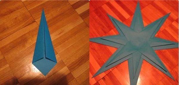 kak-sdelat-iz-bumagi-zvezdu_40 Как сделать объёмную звезду из бумаги и картона своими руками. Шаблоны и схема для объемной звезды своими руками. Как сделать объемную звезду в технике оригами
