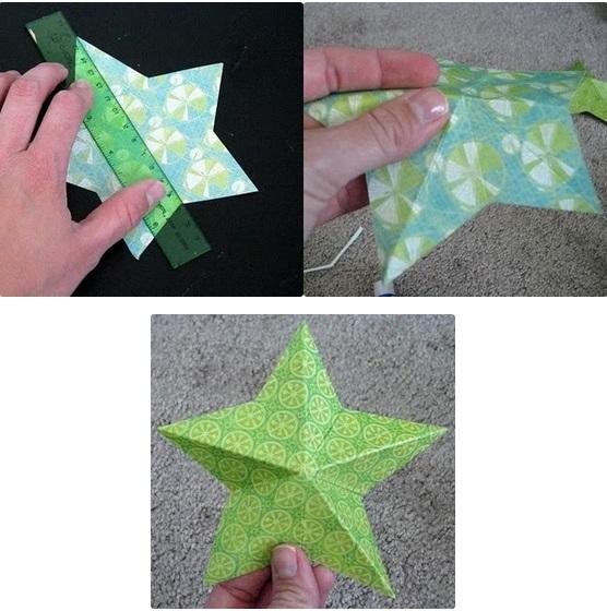 kak-sdelat-iz-bumagi-zvezdu_62 Как сделать объёмную звезду из бумаги и картона своими руками. Шаблоны и схема для объемной звезды своими руками. Как сделать объемную звезду в технике оригами