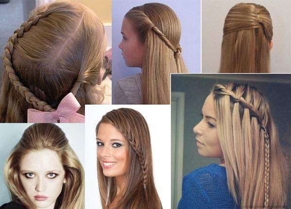Простые причёски на длинные волосы в школу
