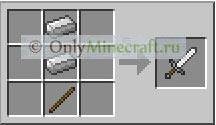 Как сделать железный меч в Майнкрафте?