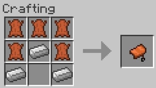 Как сделать в minecraft седло